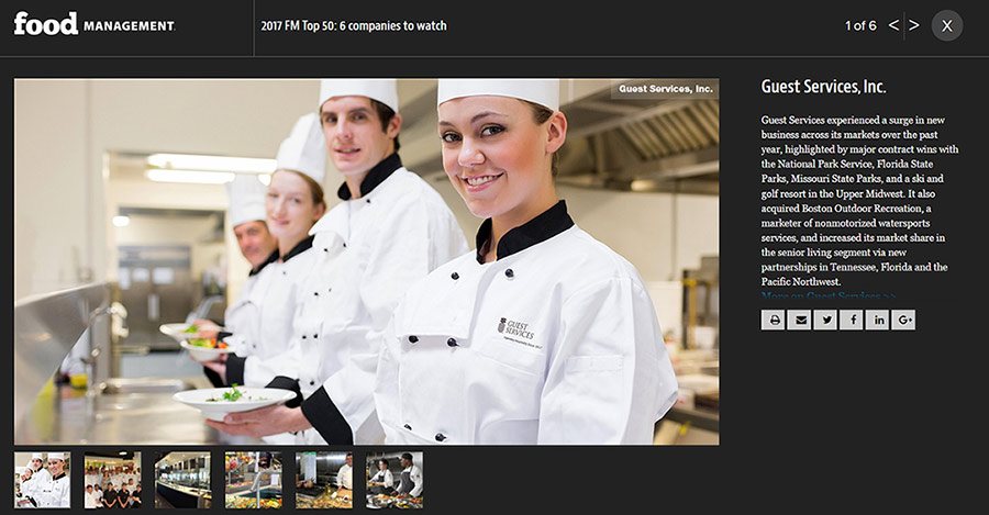 GSI Named #1 Company to watch in 2017 by Food Management Magazine