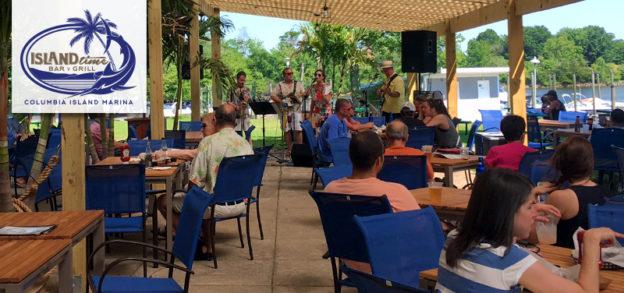 columbia island marina, island time bar and grill